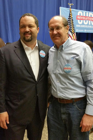 Ben Jealous and Mike Pullen at the Our Revolution event.