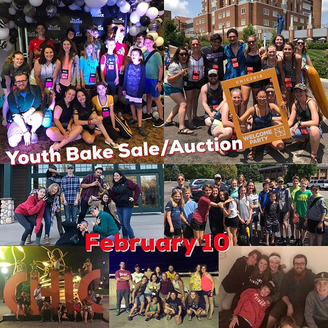Special events and trips are a big part of our students' faith journey.  They also require extra time and money to make happen - you can help!  Join us February 10th for our Youth Bake Sale / Silent Auction between services!  Let us know if you have a service or item that you can donate for our Silent Auction!