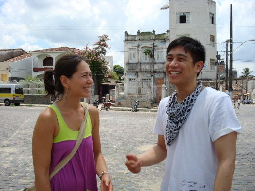 Lang and our friend Mark in Cachoeira, a small town outside of Salvador, Bahia | 2008