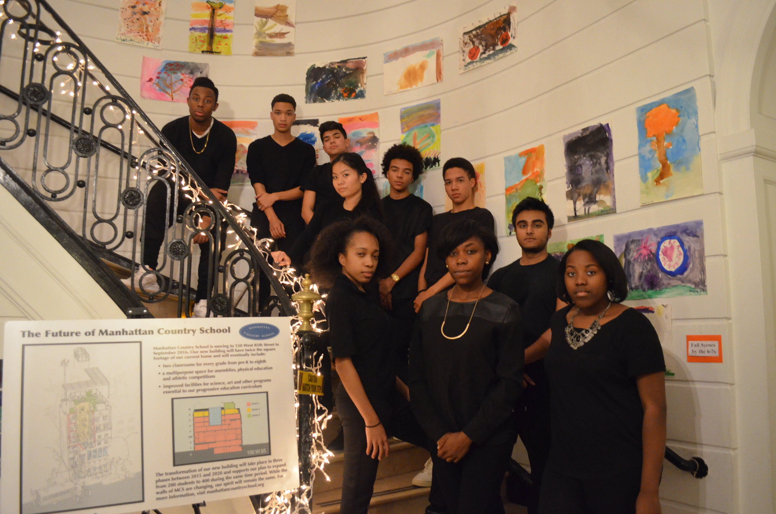 E.A.T.T.'s 2015-2016 Cast After Our 2015 Welcome to The Table Showcase At Manhattan Country School.