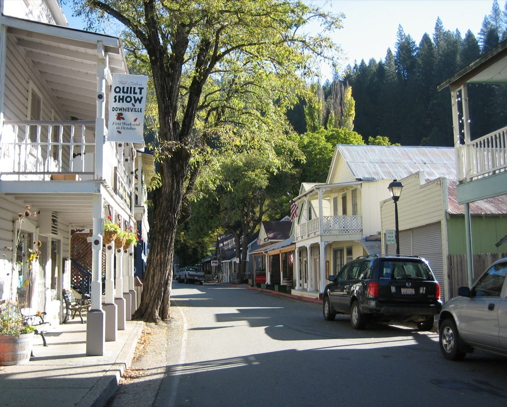 Downtown Downieville. CA