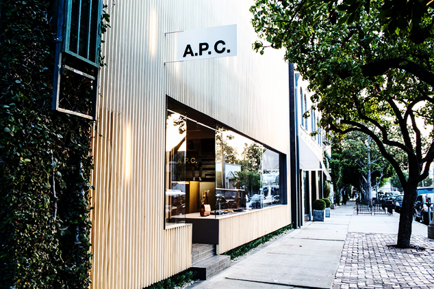I LOVE  APC  for their Parisian staples. Their purses and shoes are understated and gorgeous, very clearly quality pieces. Truthfully, I have never purchased anything here at retail, but love to go in the store and mosey around. The only A.P.C I own is from Wasteland and cost under $60. Definitely worth the hunt.