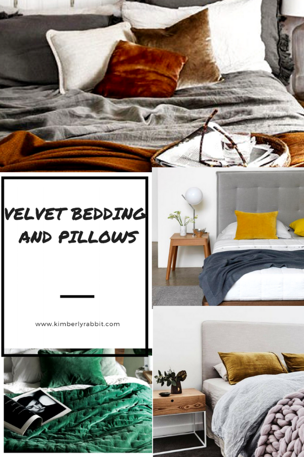 I am using this option as we speak! Im getting my king pillows recovered in dusty rose velvet with a narrow brick pattern and will add a burnt orange lumbar to top off the look. I'll do a post on the final look but think these beds look so cozy and warm due to the velvet. Something I have seen but truly never thought about incorporating. I am in love!