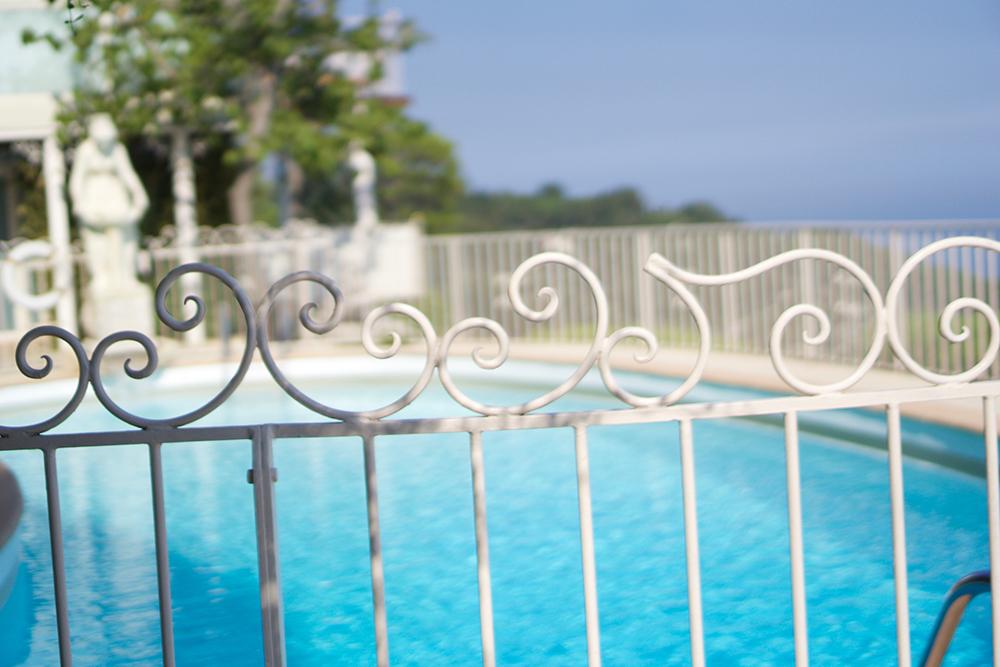 The gorgeous Italian inspired pool area. I felt like royalty taking a dip!