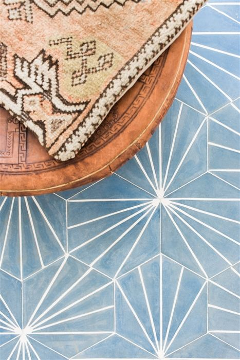 This geometric pattern in this powder blue cement tile has been a go-to fave for a long time. I really feel like I will use this somewhere at some point soon because it's fun but not too busy. The pattern reminds me of a starburst without the literal star pattern (which I also love!).