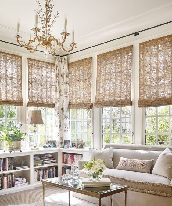 The bamboo roll down shades alone are also gorgeous and let in such gorgeous twinkly light. It creates a great ambiance and softens the vibe of any room. I got these for our Redondo Beach home and love them!