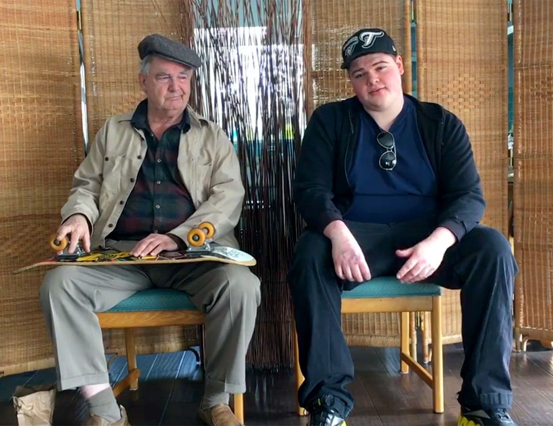 Gerry McAuley and Benjamin Posaki rehearse Nancy.