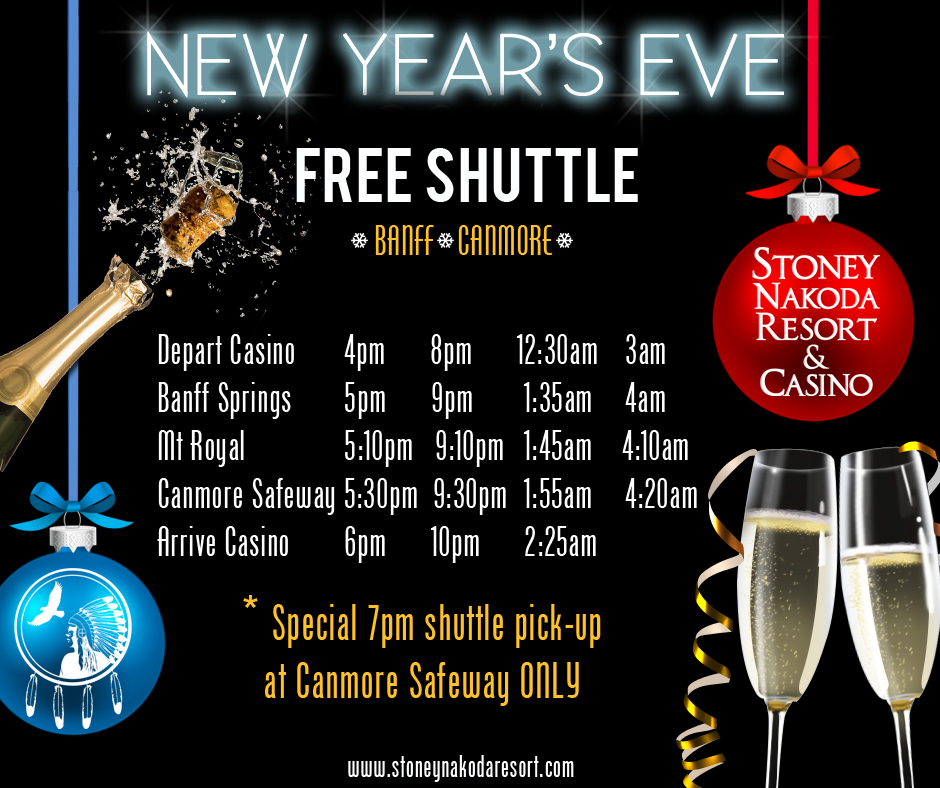 NYE Free Shuttle Schedule