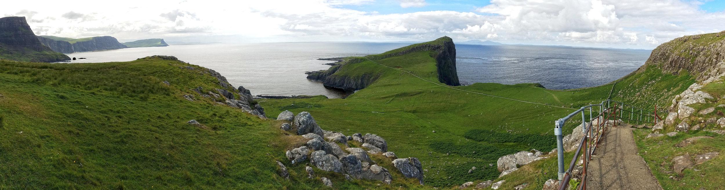 Neist Point Lighthouse Path Panorama