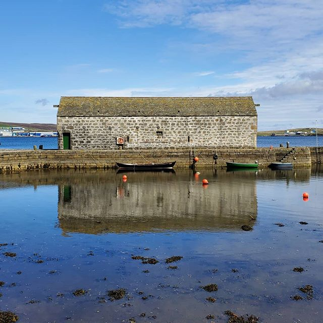 Reflections at low tide. Near the #shetlandmuseum in #lerwick , #shetland yesterday.  #scotlandadventures #scotlandlover #scotlandmagazine #scotland #scotlandtravel #scotlandsun #scotlandgreatshots