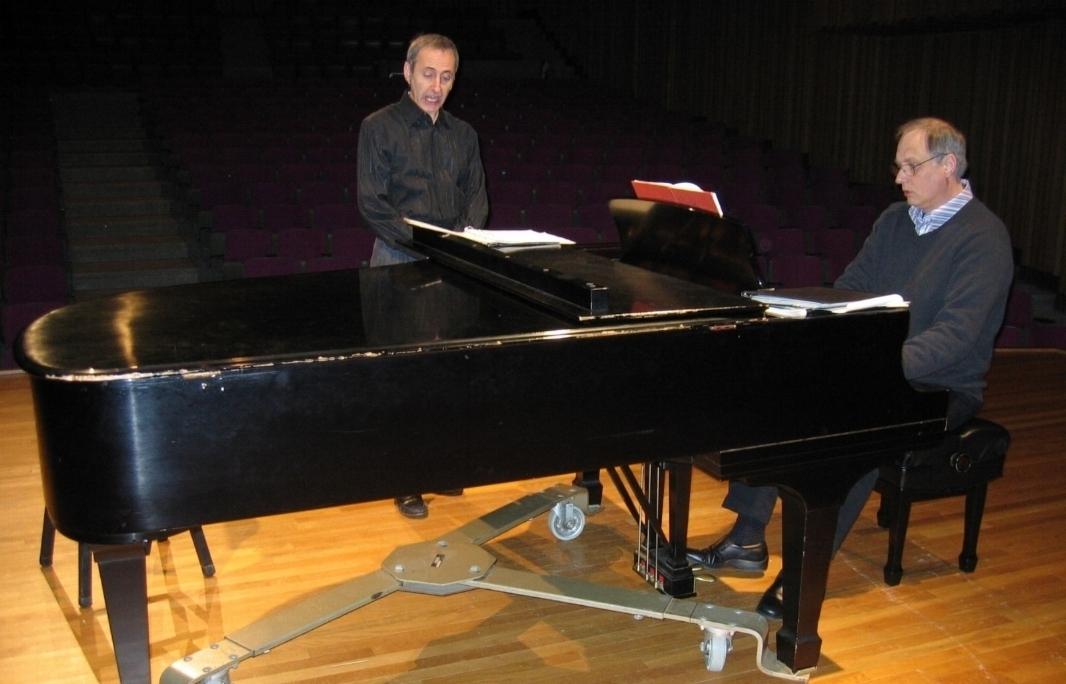 Rehearsal with David Jordan Harris