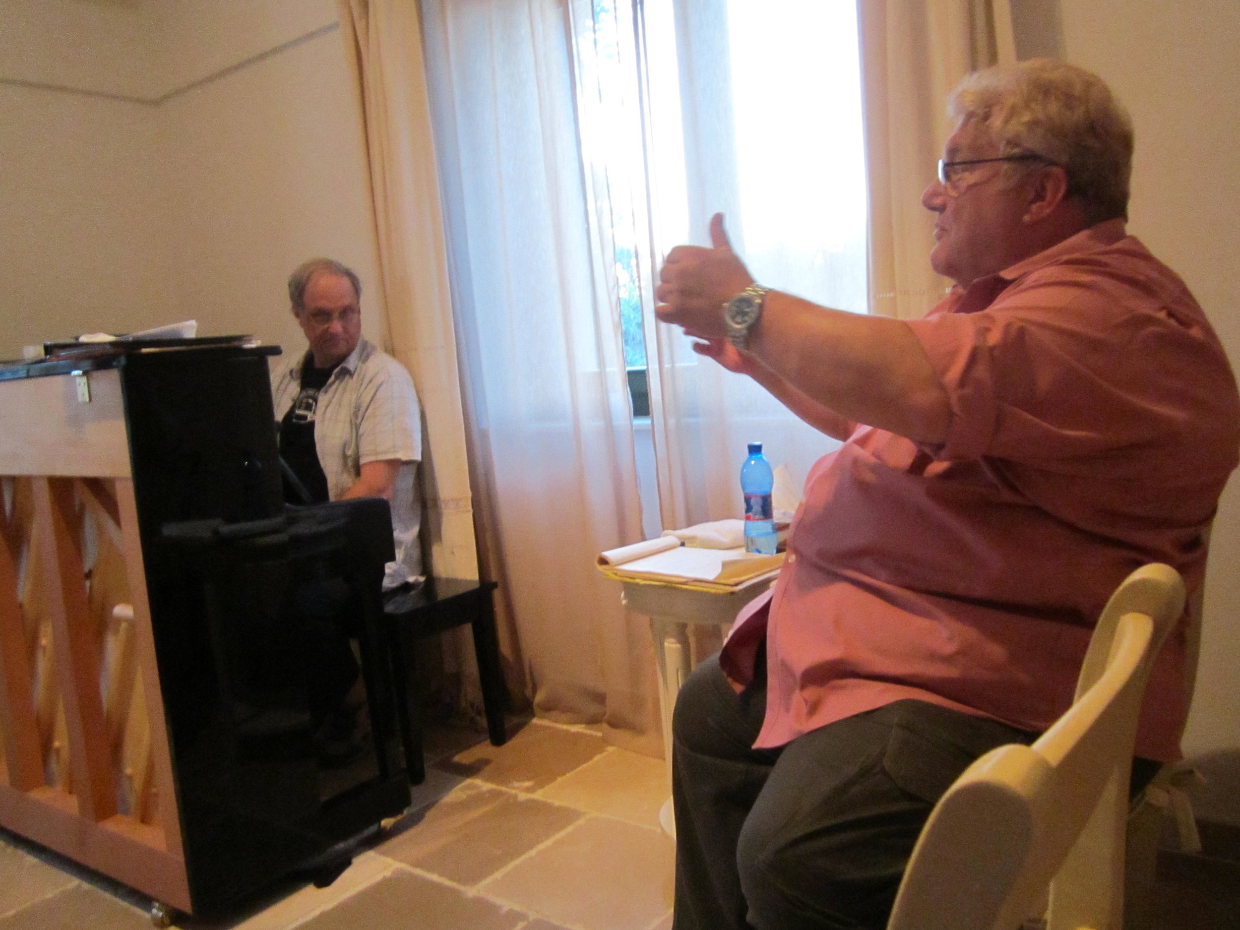 Atelier Apulia, Italy/ with James Koenig in Rehearsal