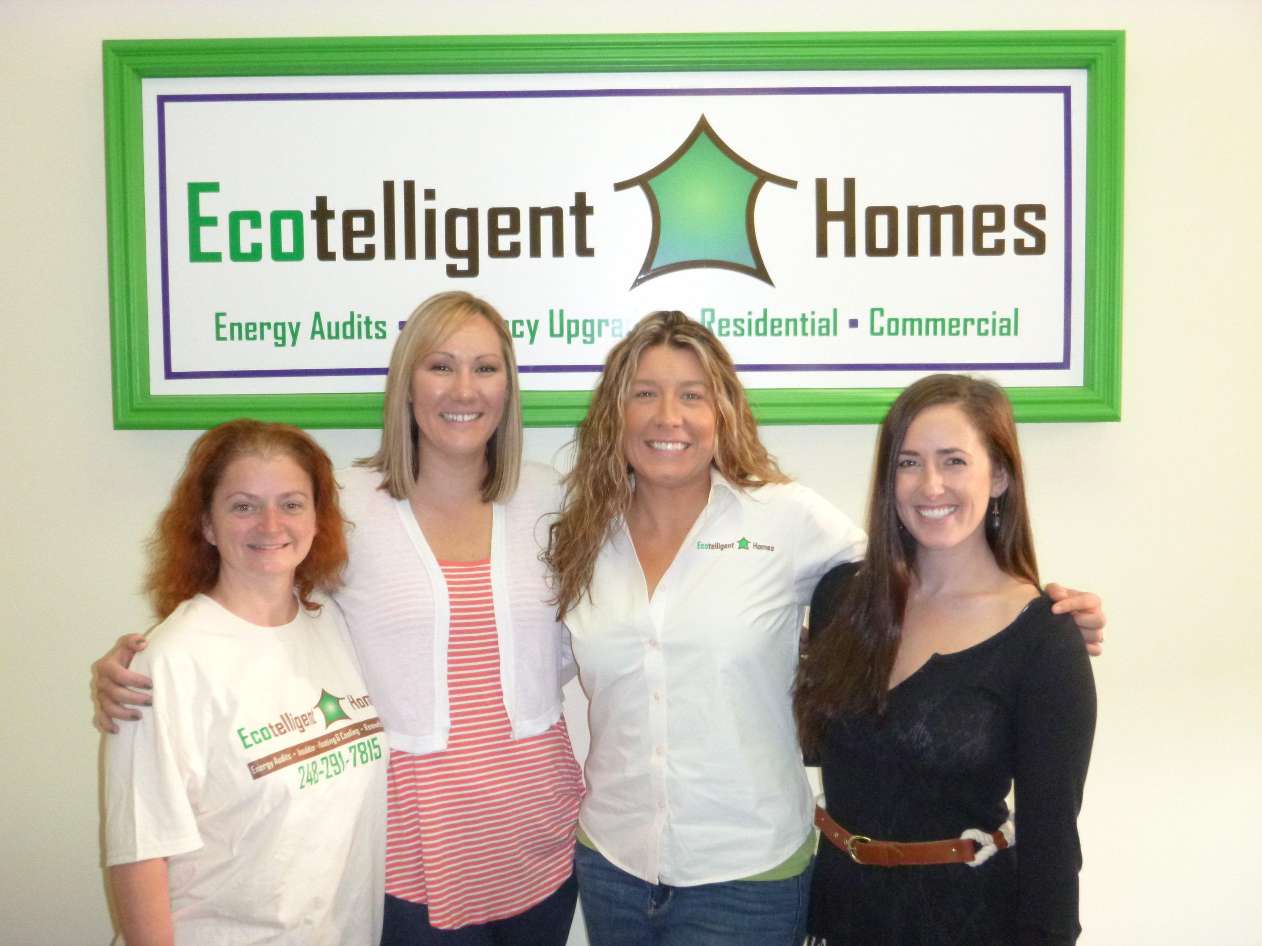 The women of Ecotelligent Homes, from left to right: Fay Cantwell, Shelly Hein, Amanda Godward, Jamie Dusina.