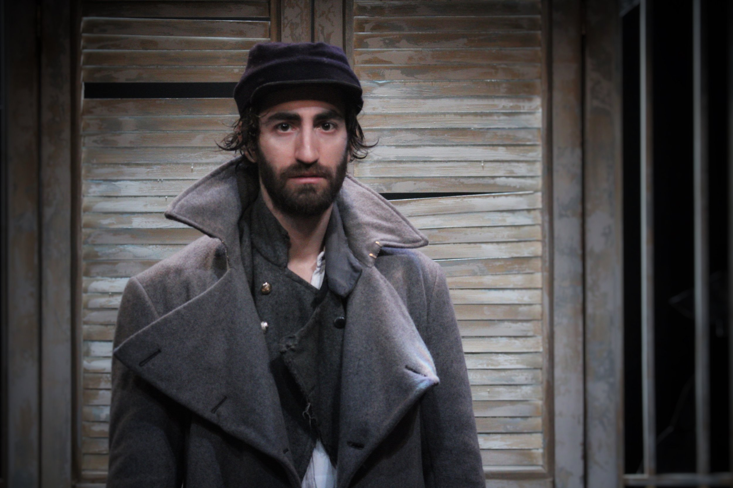 """Gio as Caleb DeLeon in  The Whipping Man  by Matthew Lopez at Pacific Theatre. The production was nominated for 8 Jessie Richardson Awards including """"Best Production  Large Theatre""""."""