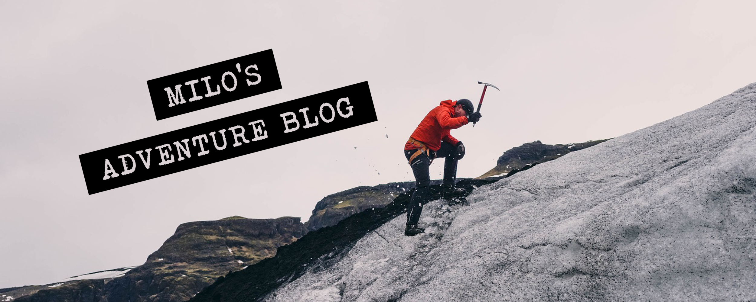 The picture is the focus in this blog header perfect for travelers and adventurers.