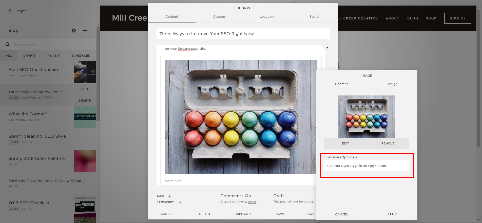 How To Add an Image Alt Tag in Squarespace
