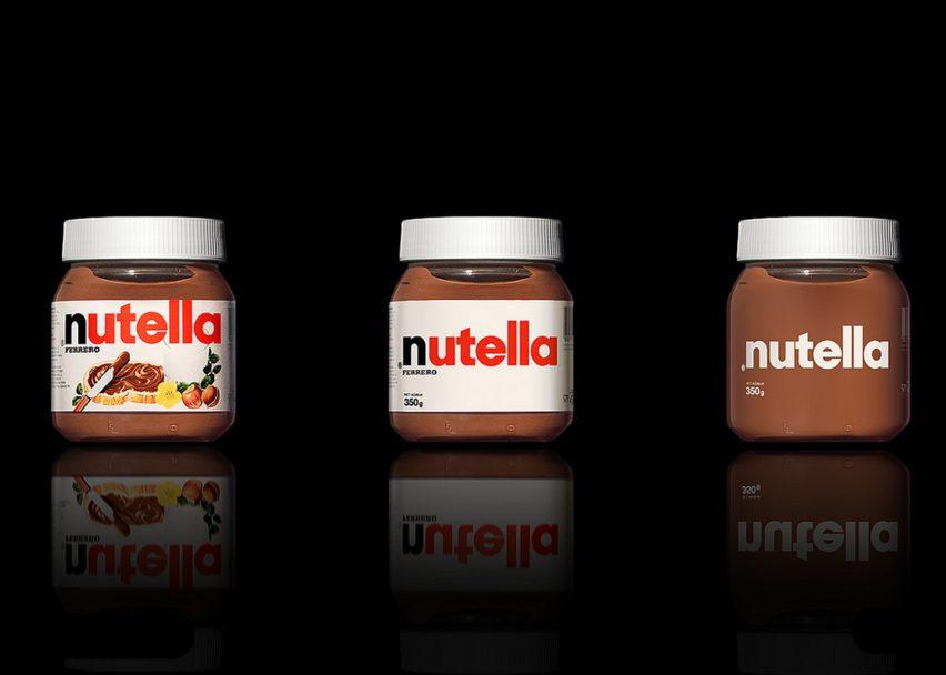 Nutella Minimalist Packaging Design