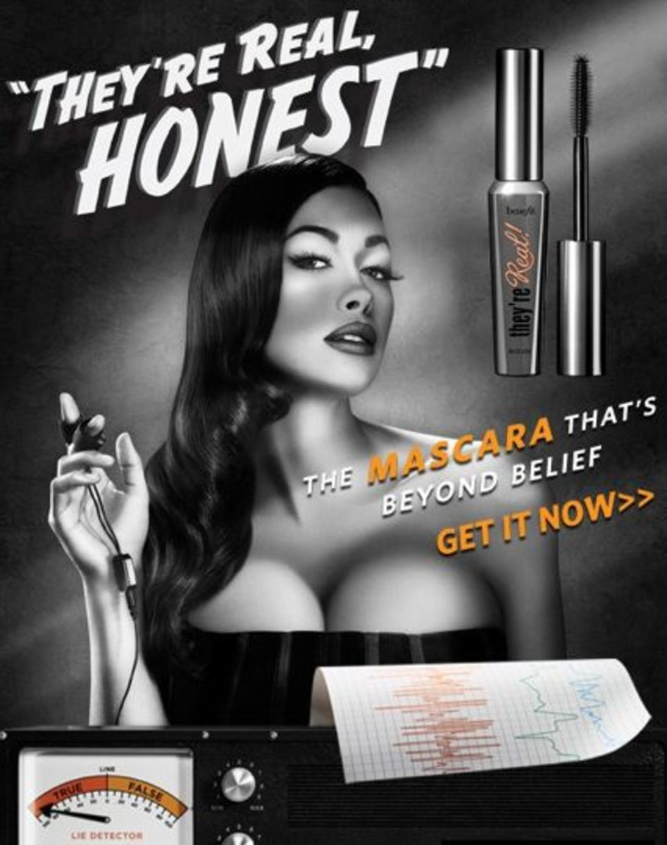"""Benefit Costmetics Pop Art Advertising for """"Benefit's They're Real"""" Mascara"""