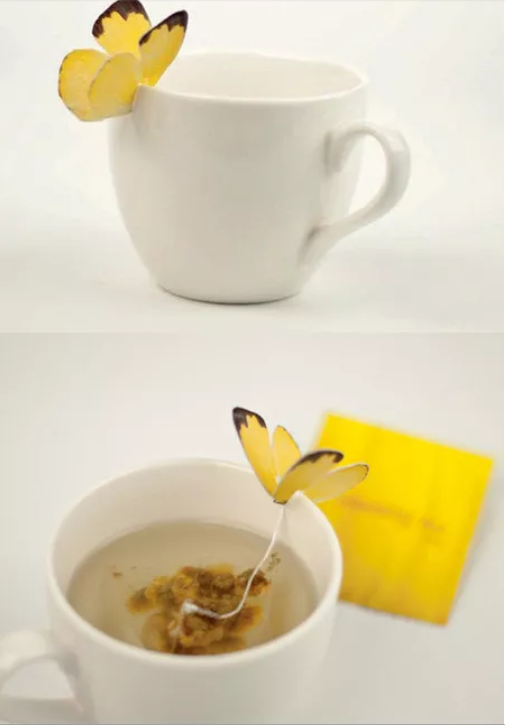 Butterfly Tea by Yanko Design