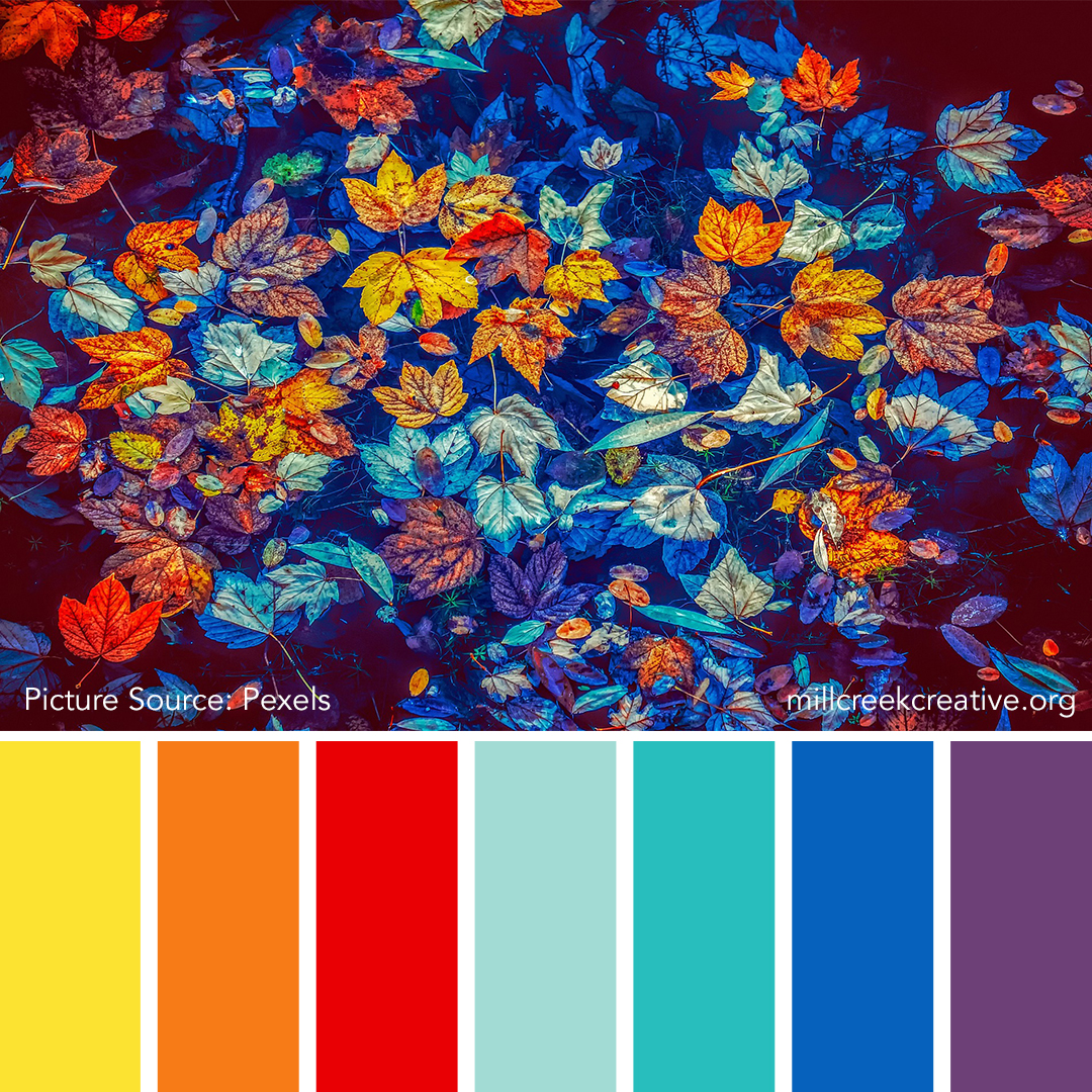 Autumn Leaves on Water Color Palette | Mill Creek Creative
