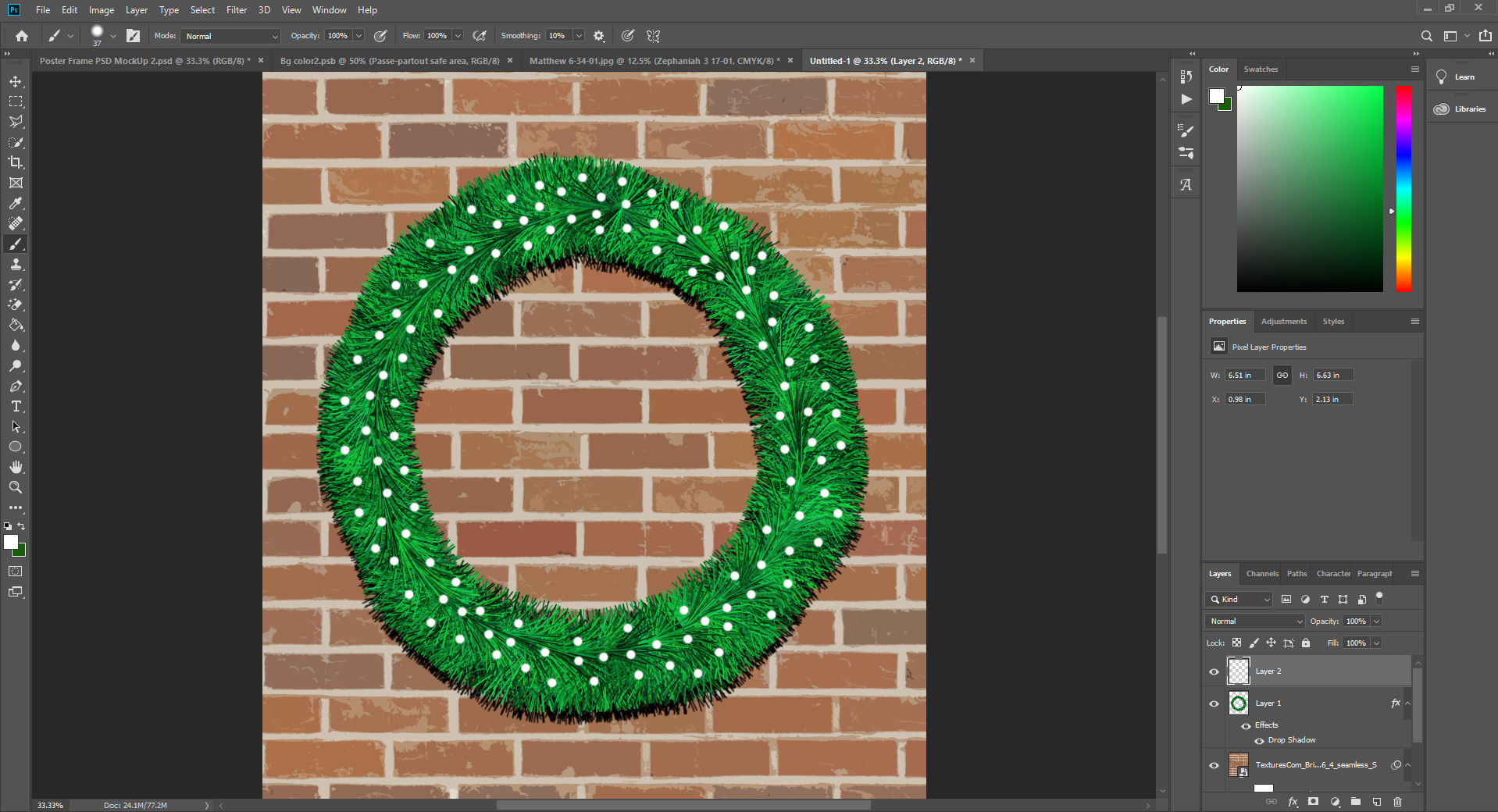 Christmas Wreath Photoshop Tutorial | Mill Creek Creative
