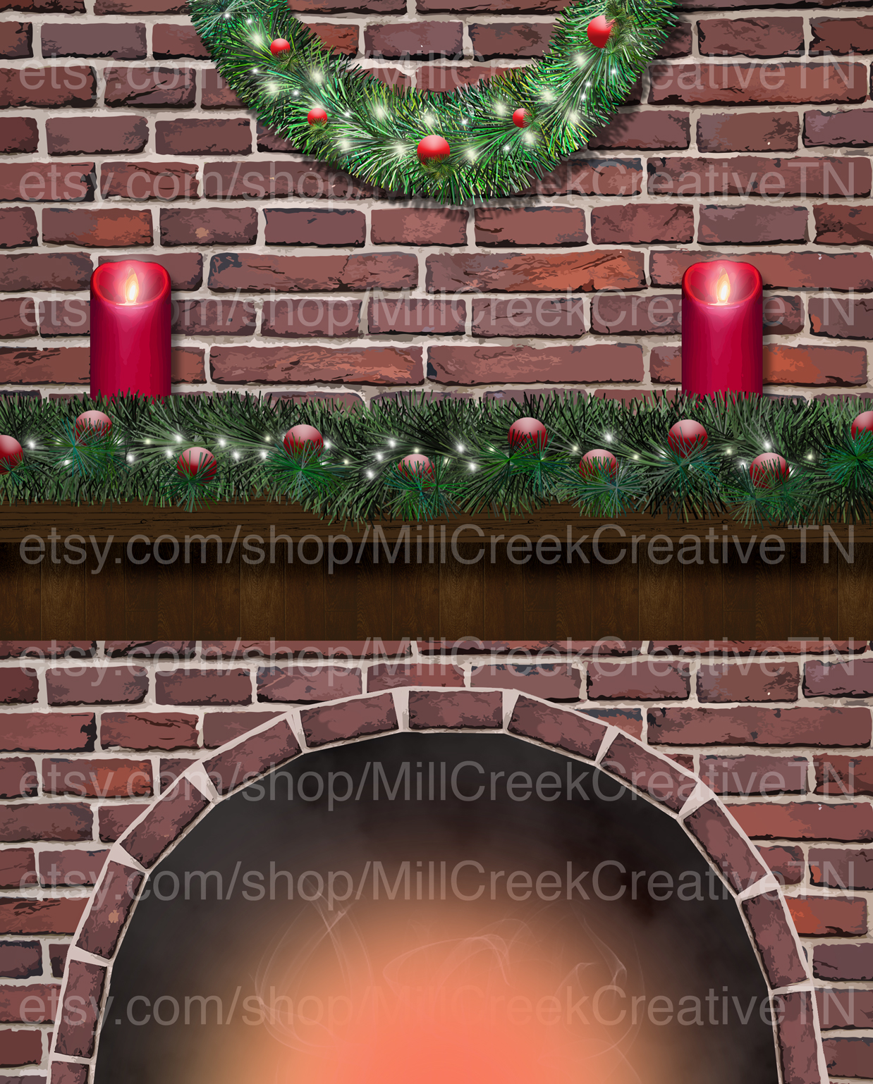 Christmas Fireplace Design | Mill Creek Creative