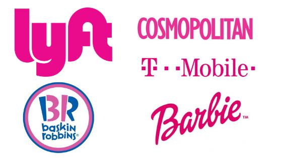 Famous Pink Logos