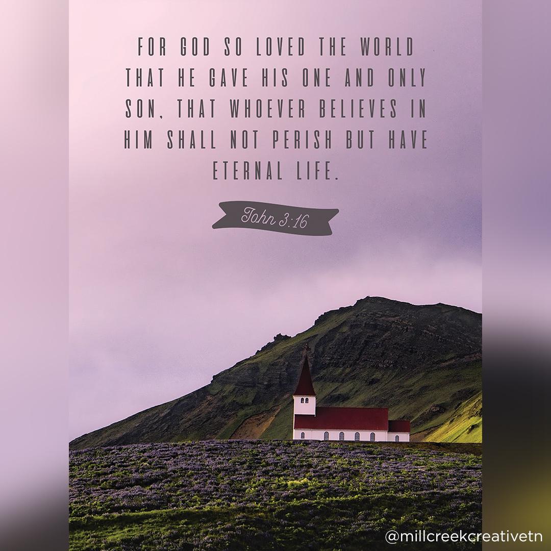 John 3:16 Poster | Mill Creek Creative
