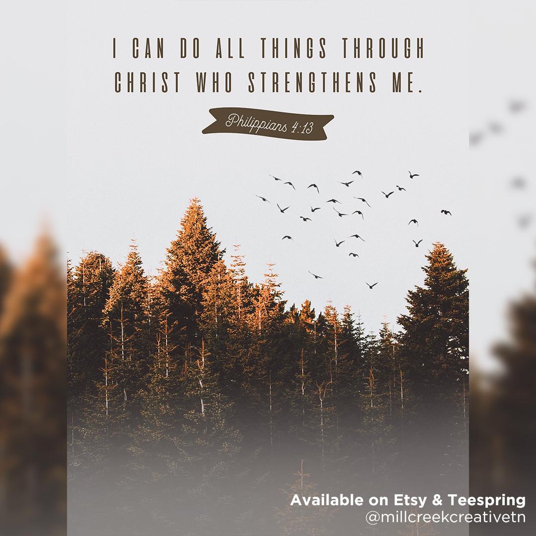 Philippians 4:13 Digital Print + Poster | Mill Creek Creative