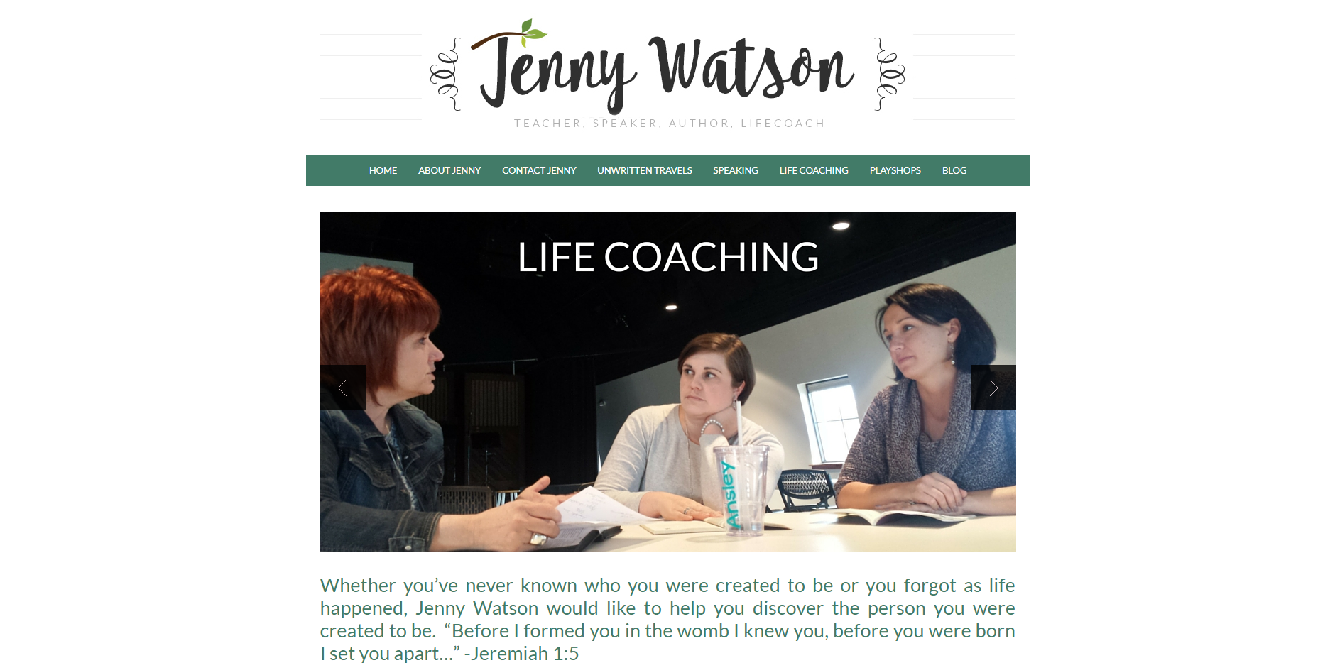 Jenny Watson Website by Mill Creek Creative
