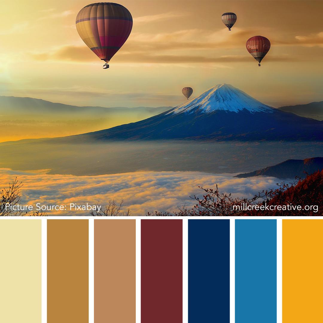 Hot Air Balloon Color Palette | Mill Creek Creative