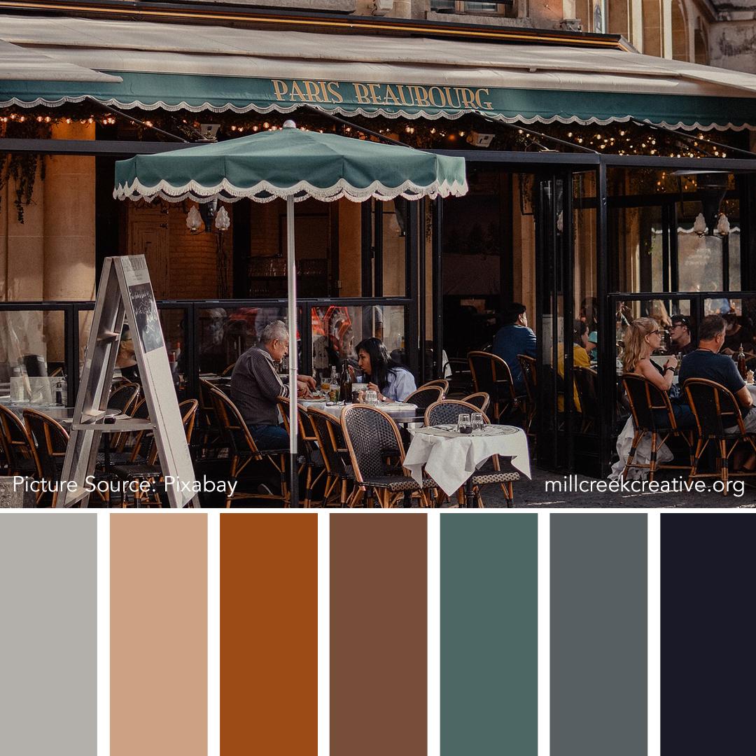 French Bistro Color Palette | Color Palette for Design Inspiration | Mill Creek Creative