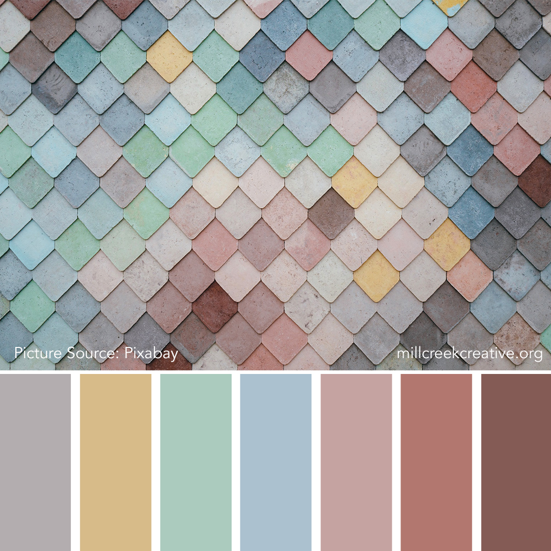 Pastel Tiles | Color Palettes for Design Inspiration | Mill Creek Creative