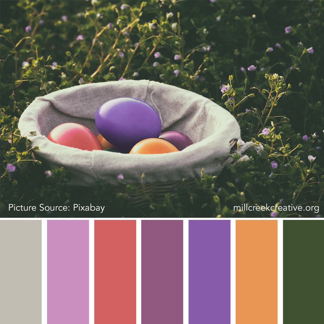 Easter Basket | Color Palettes for Design Inspiration | Mill Creek Creative