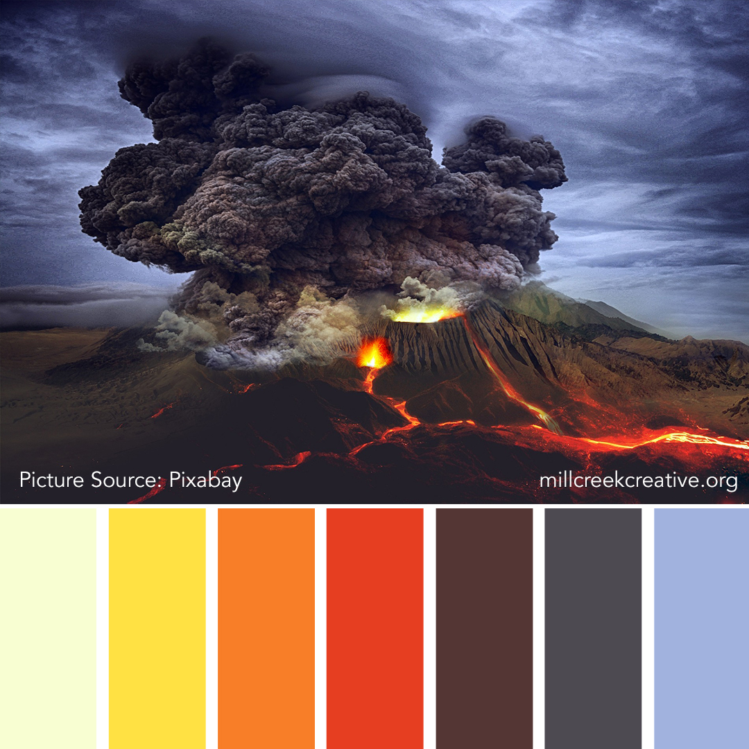 Mount Doom | Color Palette for Design Inspiration | Mill Creek Creative