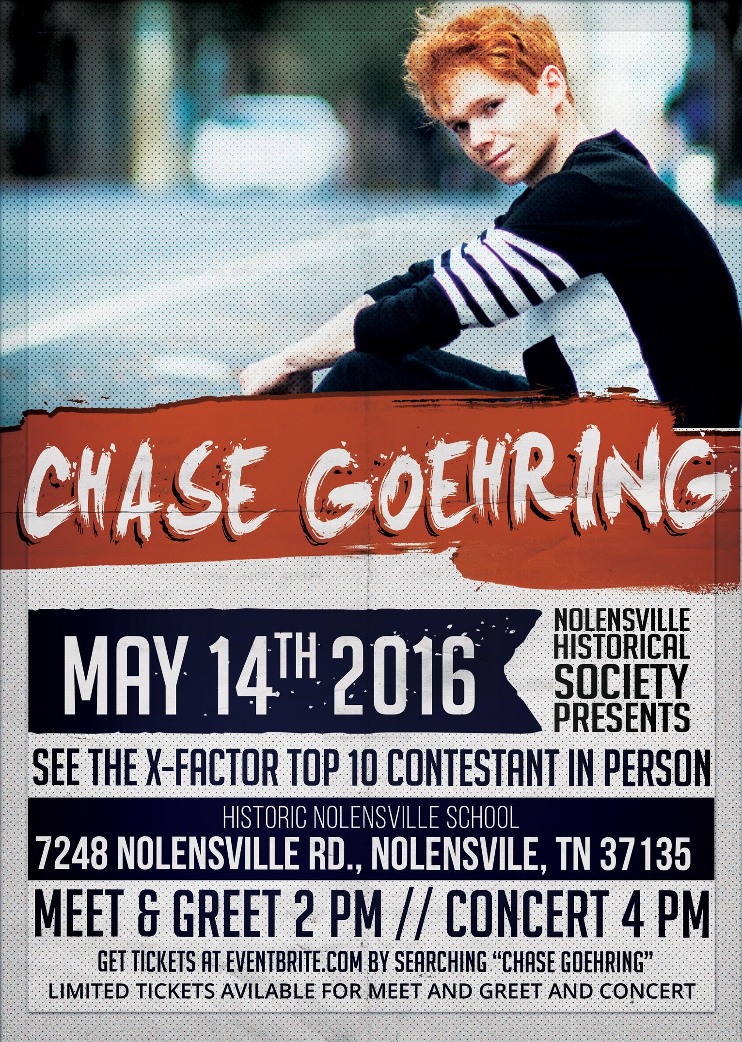 Chase Goehring Concert Flyer
