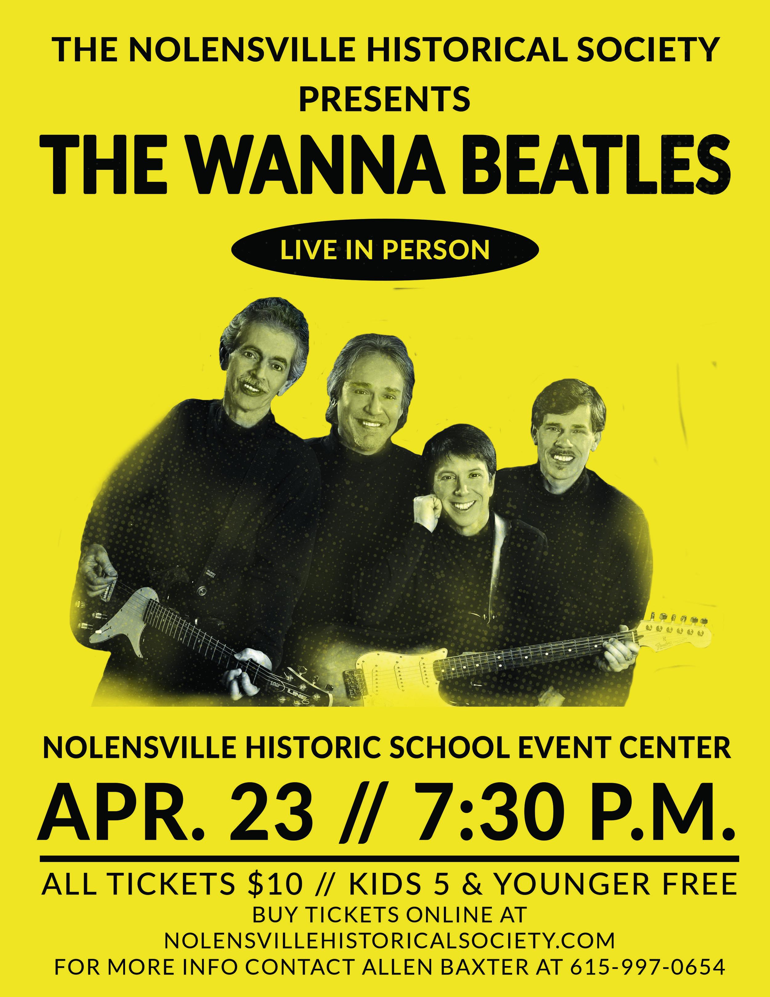WannaBeatles Concert Flyer