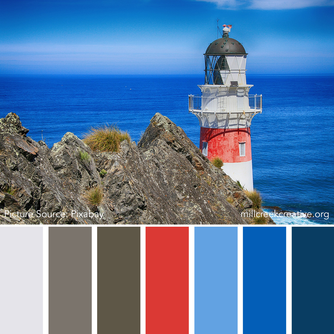 Lighthouse Color Palette | Color Palettes for Design Inspiration | Mill Creek Creative