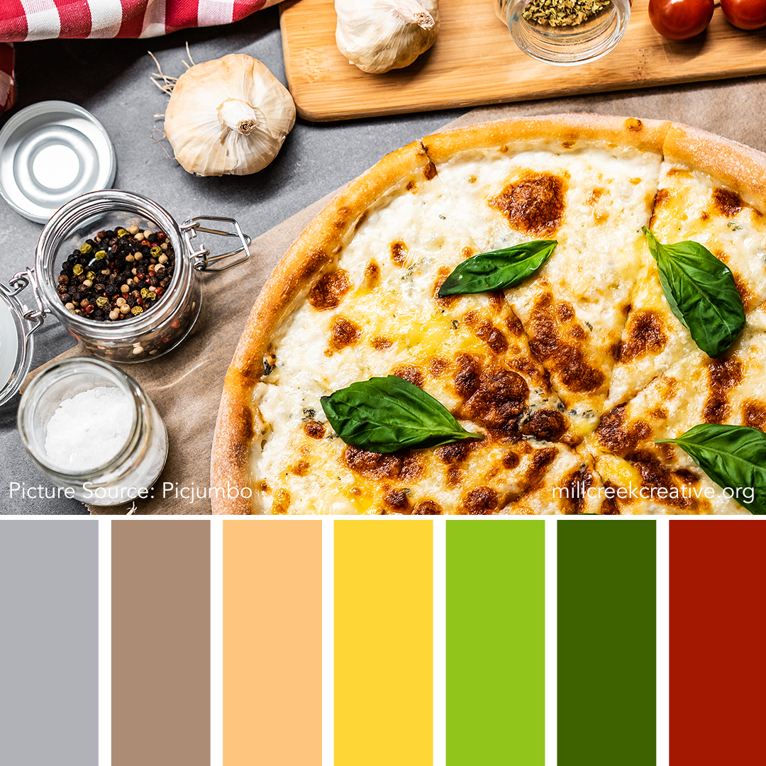 Pizza Color Palette | Color Palettes for Design Inspiration | Mill Creek Creative