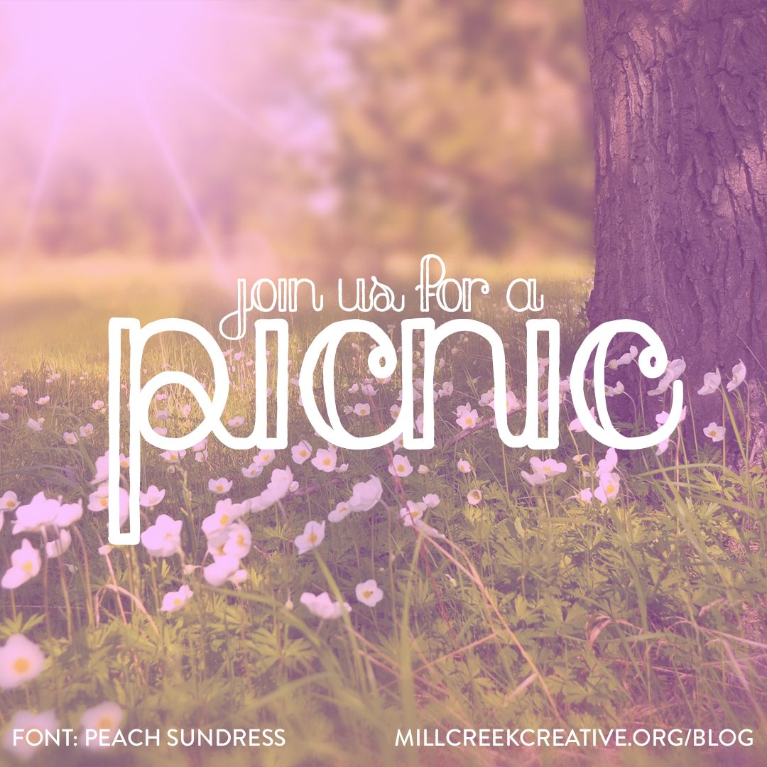Peach Sundress Free Summer Font | Mill Creek Creative