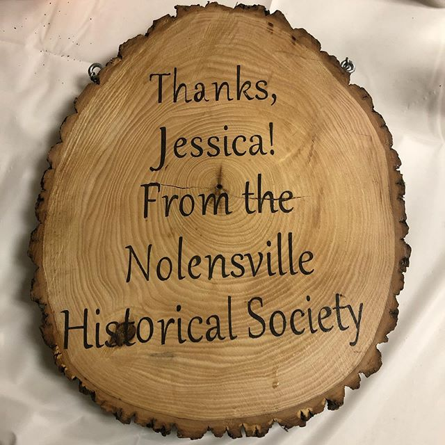 Had the pleasure of being honored by the Nolensville Historical Society for the work I've done for them over the last few years. It was a lovely evening, and I'm thankful for my town ❤️
