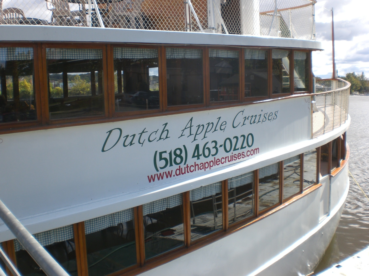 Dutch Apple Cruises & Tours  141 Broadway  Intersection of Broadway & Quay Sts.  (next to USS Slater)  Albany, NY 12202  Region: Downtown Area  Phone: (518) 463-0220  Fax: (866) 369-2331  Send E-Mail   Visit Website