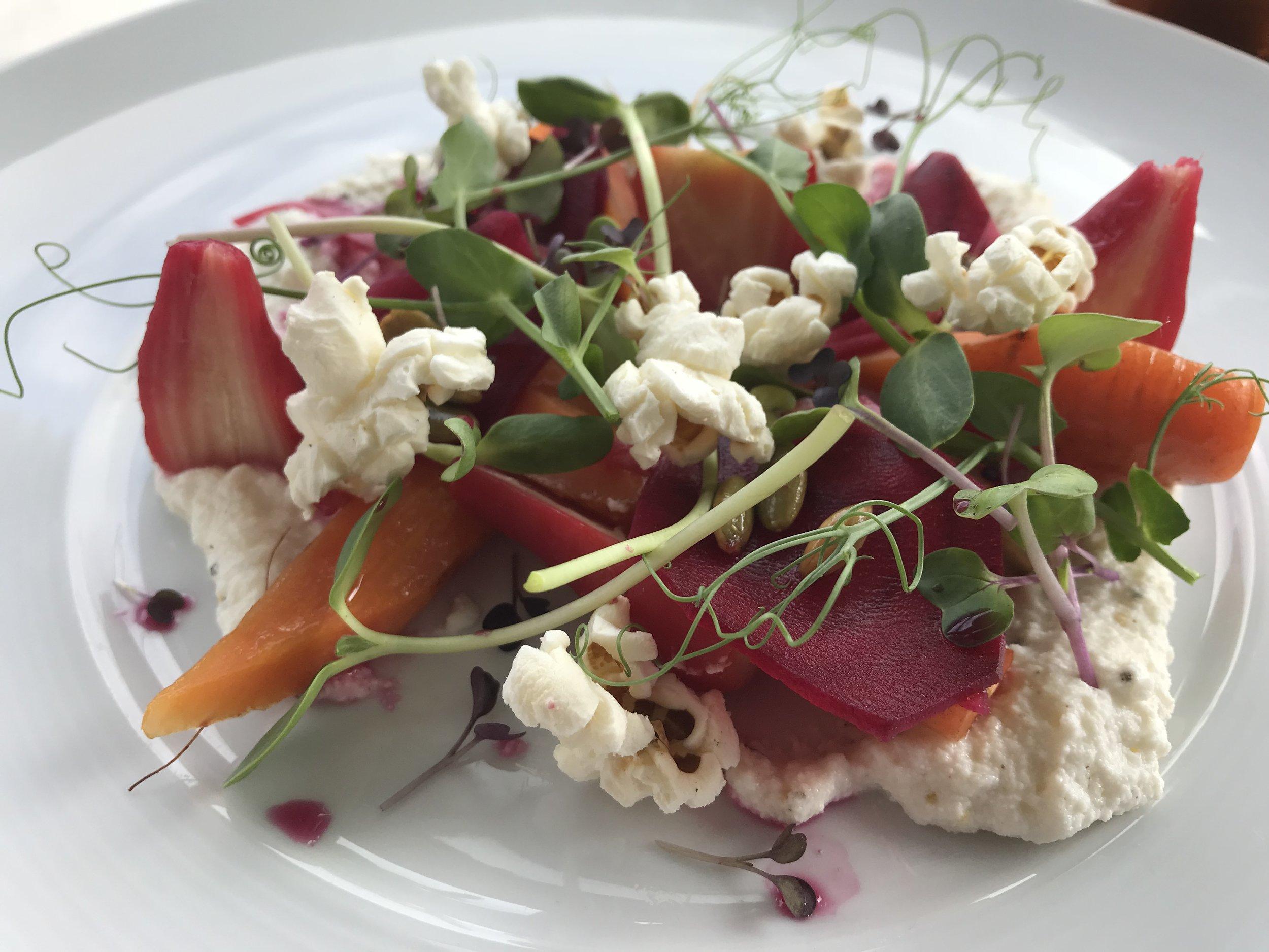 Beet and Buratta Salad