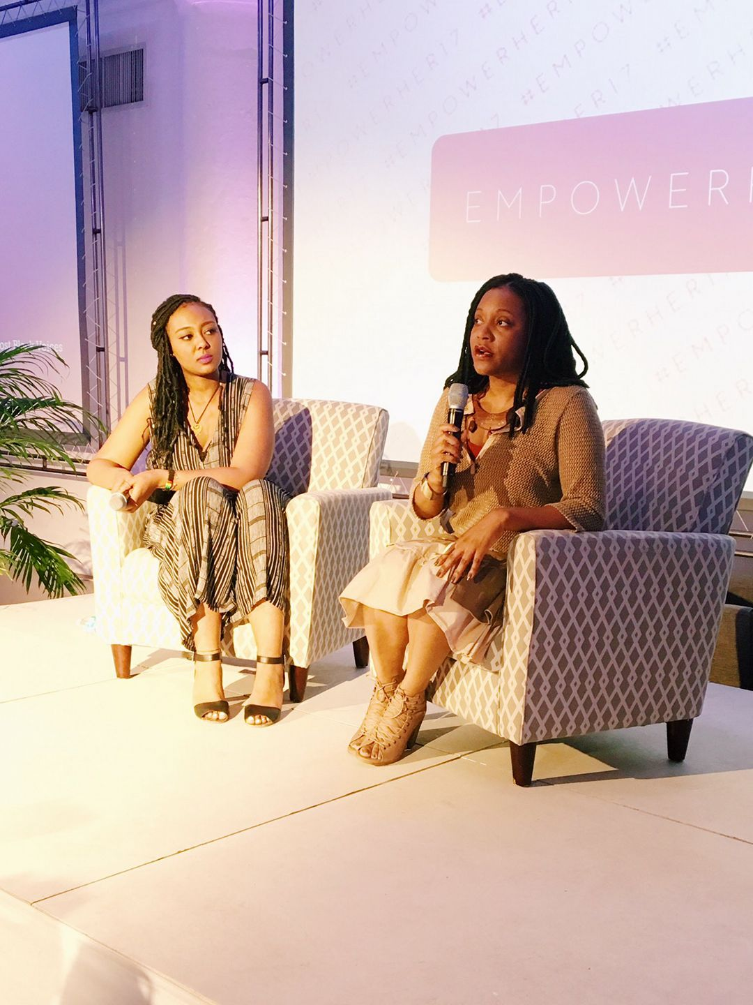 HuffPo's Lilly Workneh and I discuss a wide variety of topics during our session at the EmpowerHer 17 Conference.