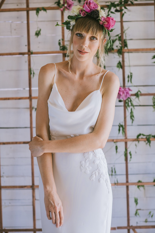 Modern Made in the USA Couture Wedding Dress