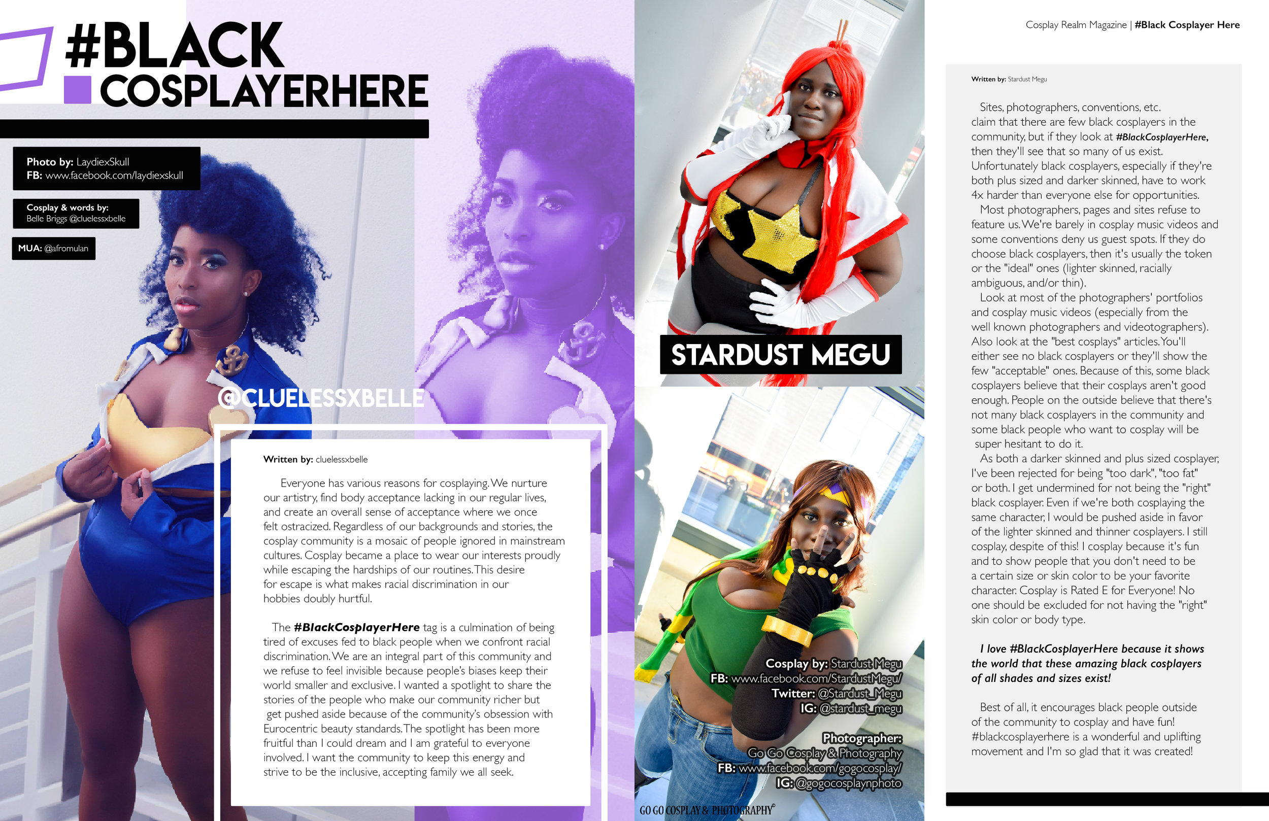 Excerpt from the issue ft words from CluelessXBelle and Stardust Megu