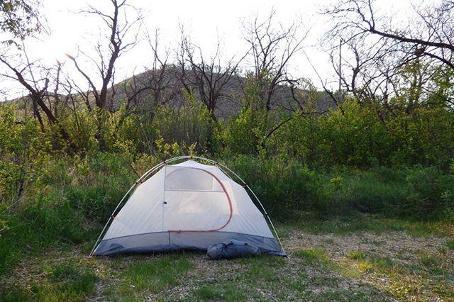 A tent, hills & trees. . . . #getoutside #saskatchewan #nature
