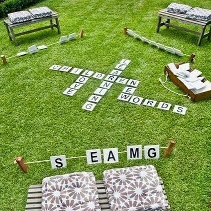 OUTDOOR IDEAS - Who doesnt love some fun times with family and friends playing scrabble? This easy DIY is the perfect activity at your home lawn over some pizza and fries ❤️ Now that's the perfect way to kickstart the long weekend for all Malaysians! Happy Independence Day fellow Malaysians! 🇲🇾 #bangkitbersama #merdeka60tahun