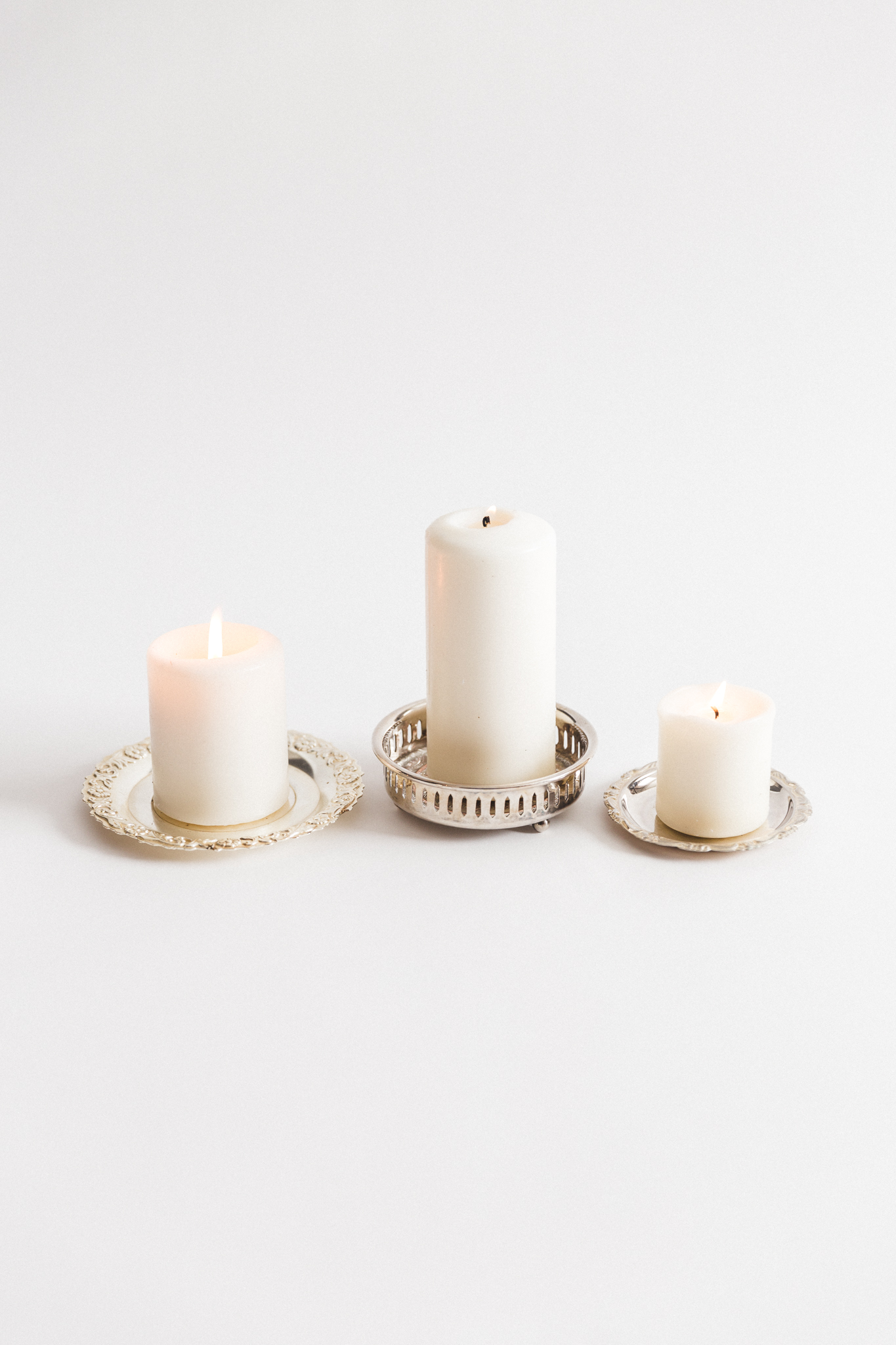 Silver Candle Holders