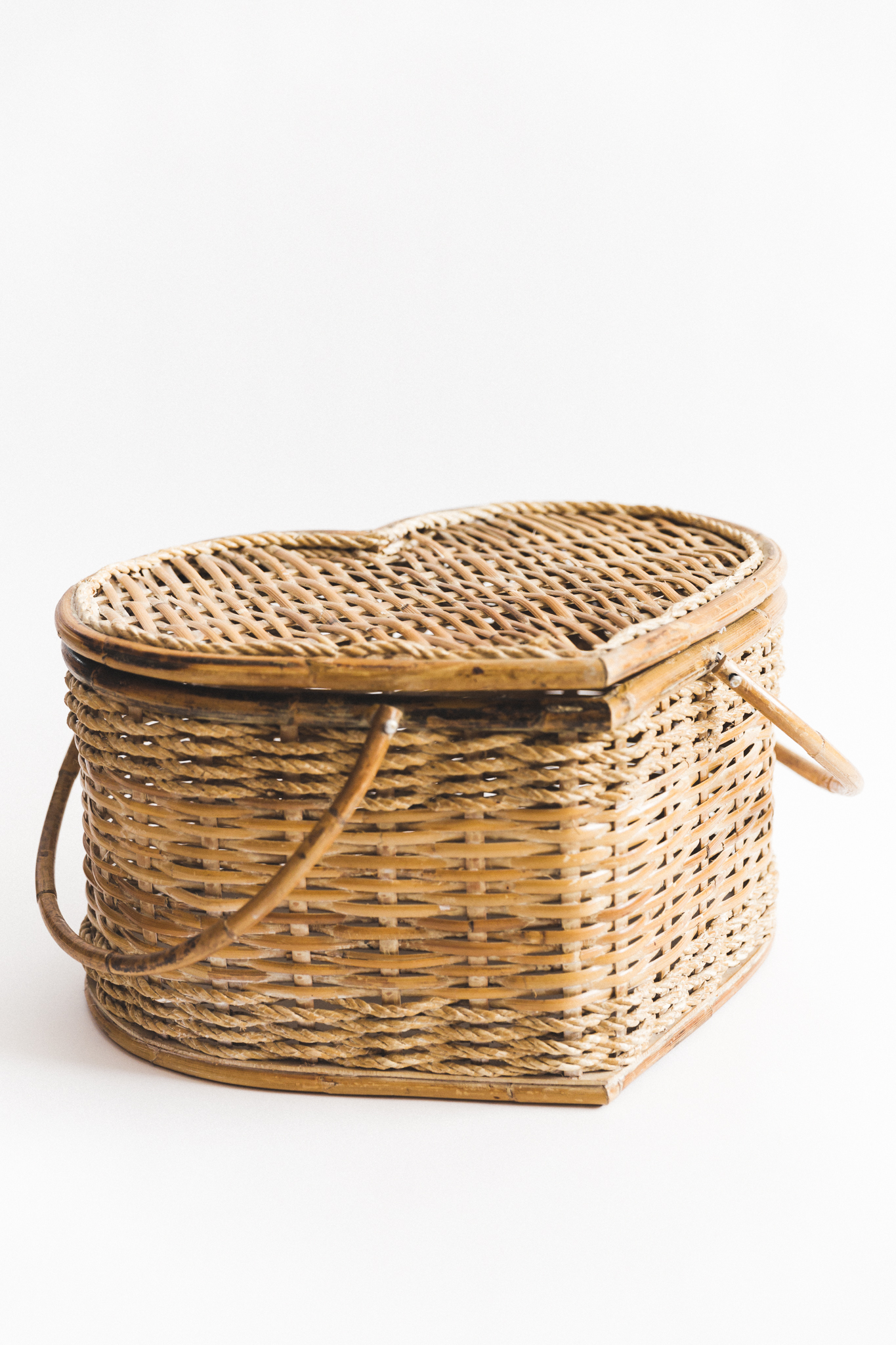 Wicker Heart Basket